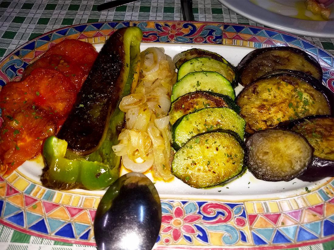 Parrilada de verduras en Olegario´s Taberner.