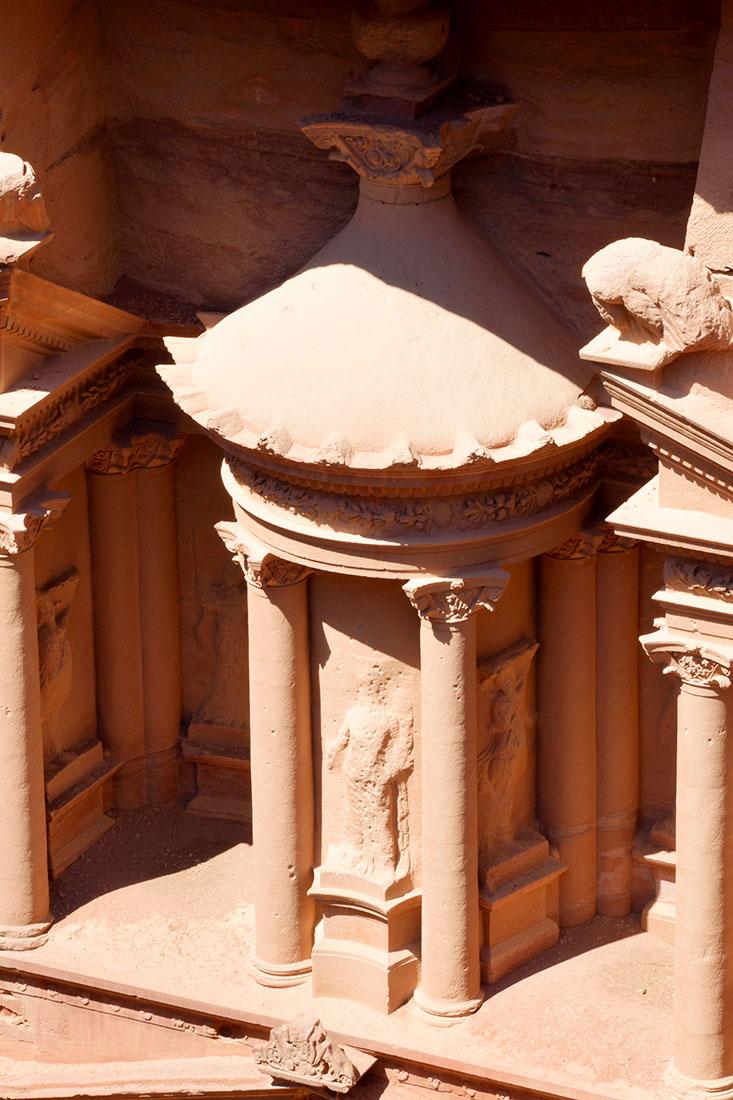 Estructura central de la parte superior coronada por la cúpula.