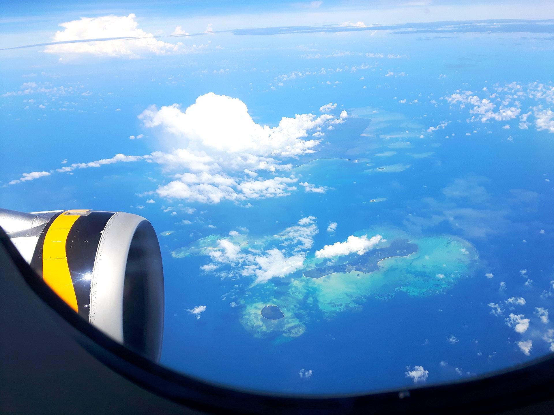 Islas en Filipinas desde el aire