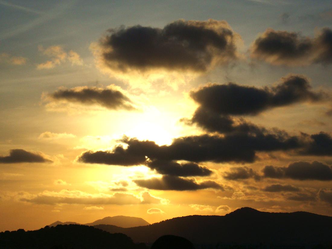 Fantástica puesta de sol