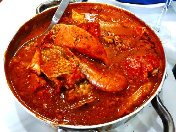 Arroz caldoso en restaurante A Cofradía en Rinlo