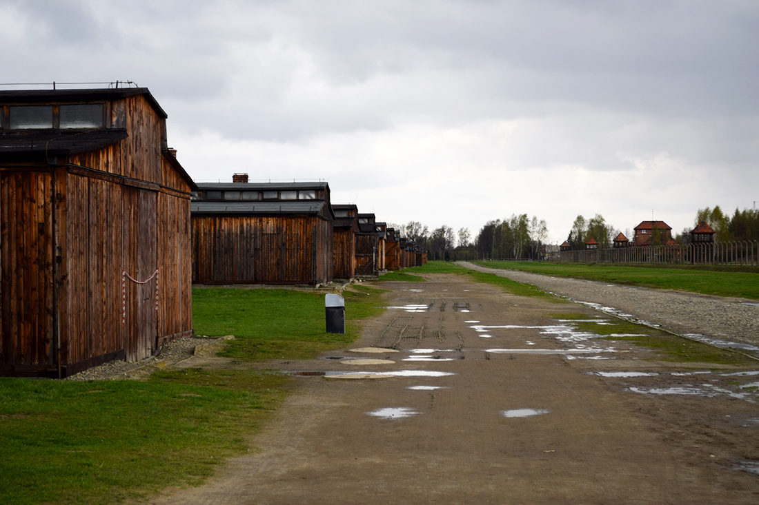 Barracones de madera en Auschwitz - Birkenau