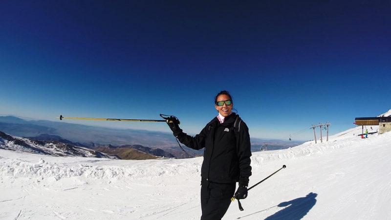 Cumbre de la estación de Sierra Nevada
