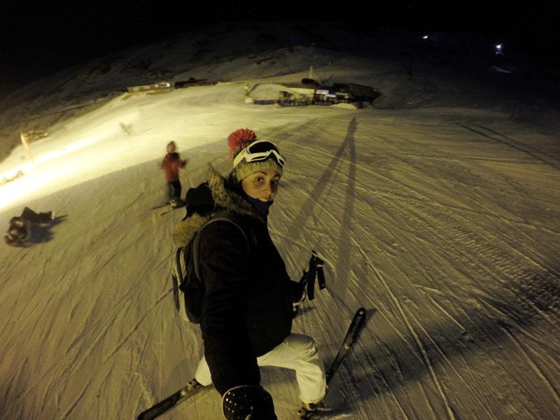 Ski nocturno en pista el Rio, Sierra Nevada