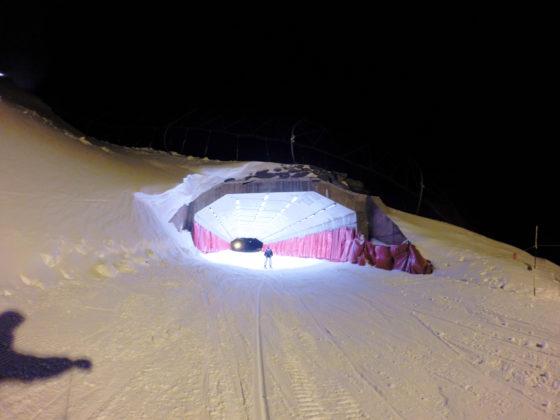 Esqui nocturno. Tunel de la Nevera, Sierra Nevada
