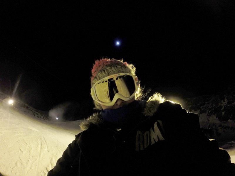 Esqui nocturno en Sierra Nevada