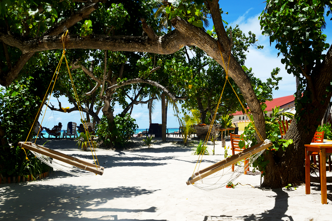 Exterior del Arena Beach hotel, Maafushi