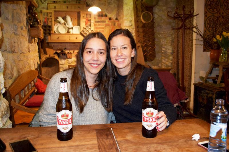Cerveza Tyskie en Cracovia