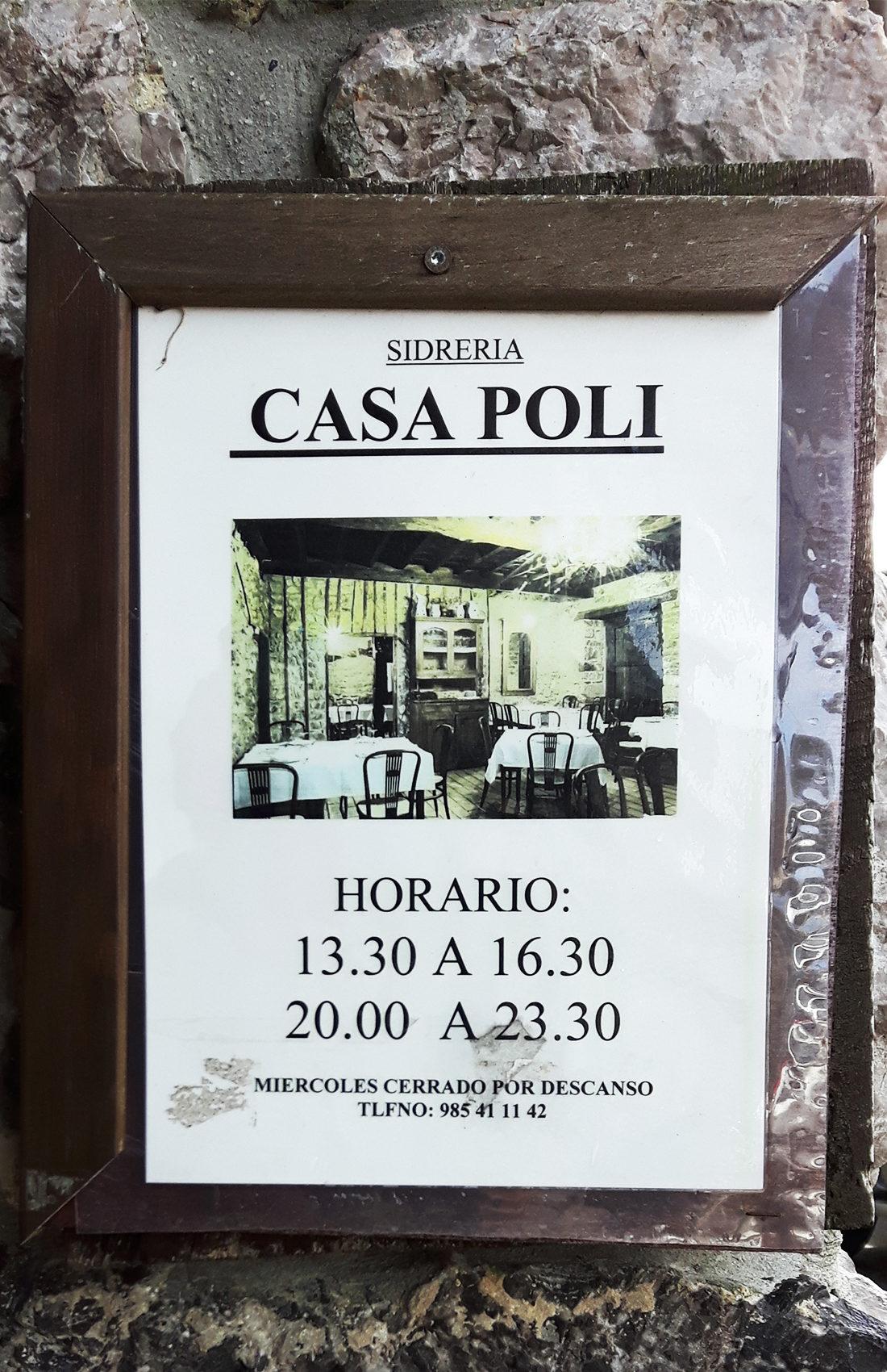 Horario y Teléfono de Casa Poli.