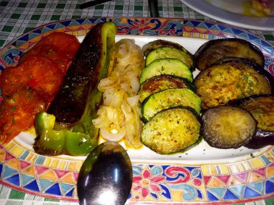 Parrilada de verduras en Olegario´s Taberner