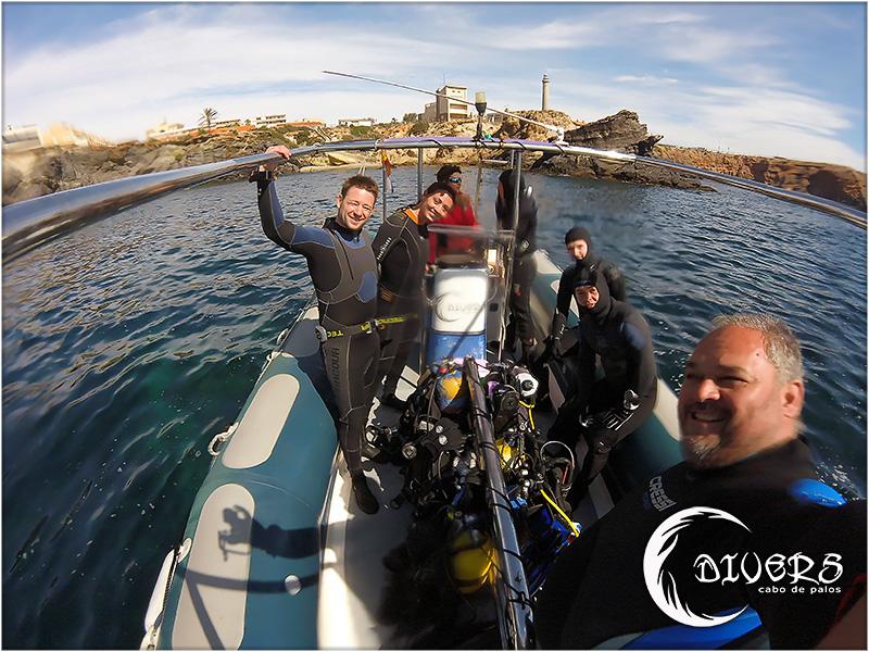 El equipo de Divers Cabo de Palos