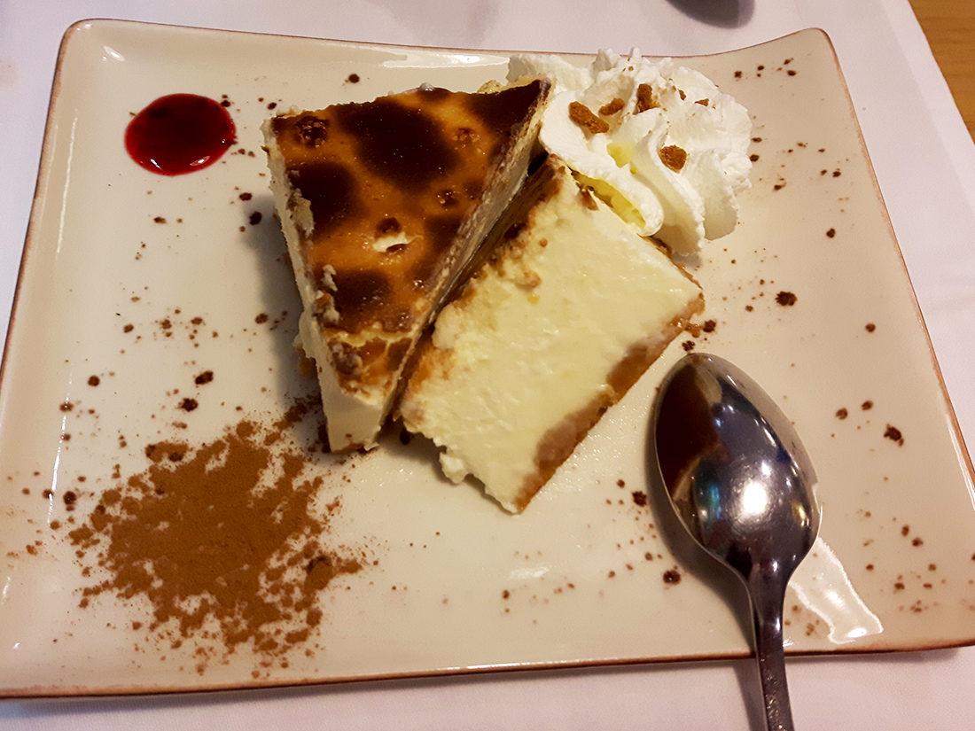 La tarta de queso del Marinero está tremenda