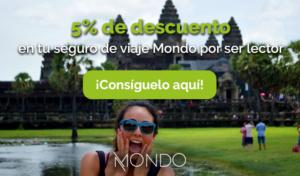 Consigue descuento en seguros de viaje Mondo por ser lector de Animales Viajeros