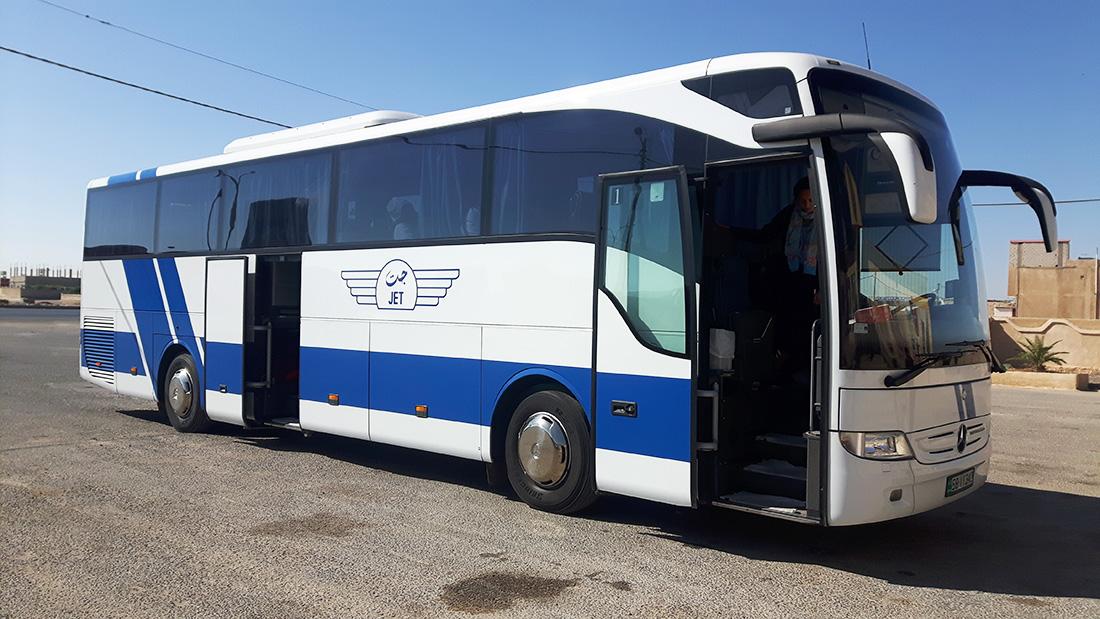 Autobus Jett de Aman a Petra