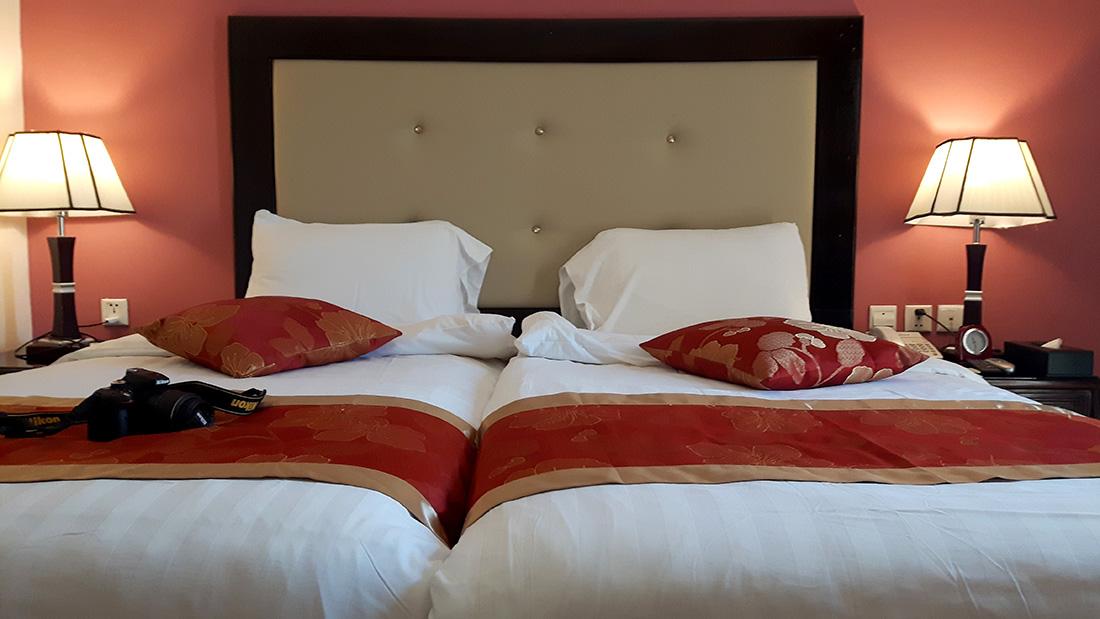 Interior de la habitación en el Petra Moon hotel