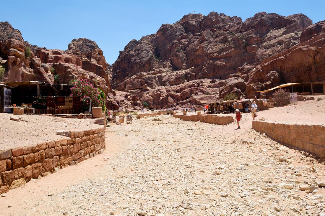 El cauce seco del Wadi Musa