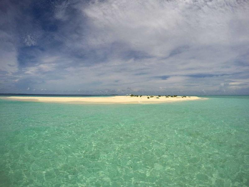 Sandbank en Atolón Sur de Malé, Maldivas