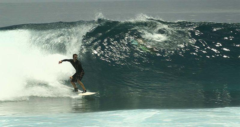Surf en Maldivas. Ola en Lohis