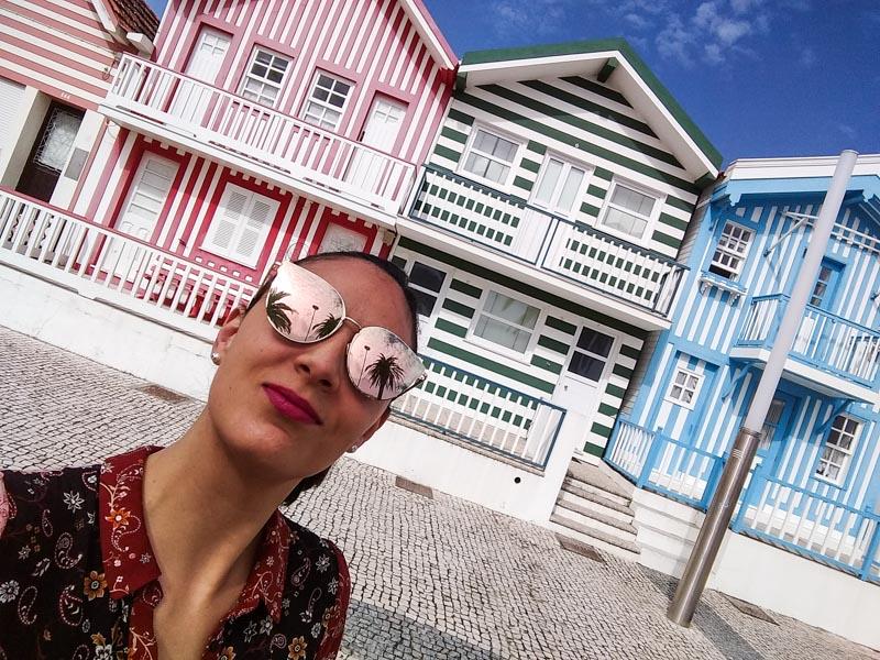 Casas de colores en Costa Nova