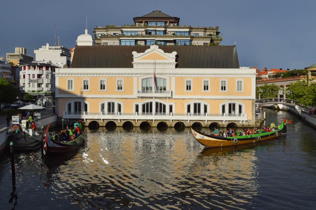 Edifio de la antigua Capitania en Aveiro