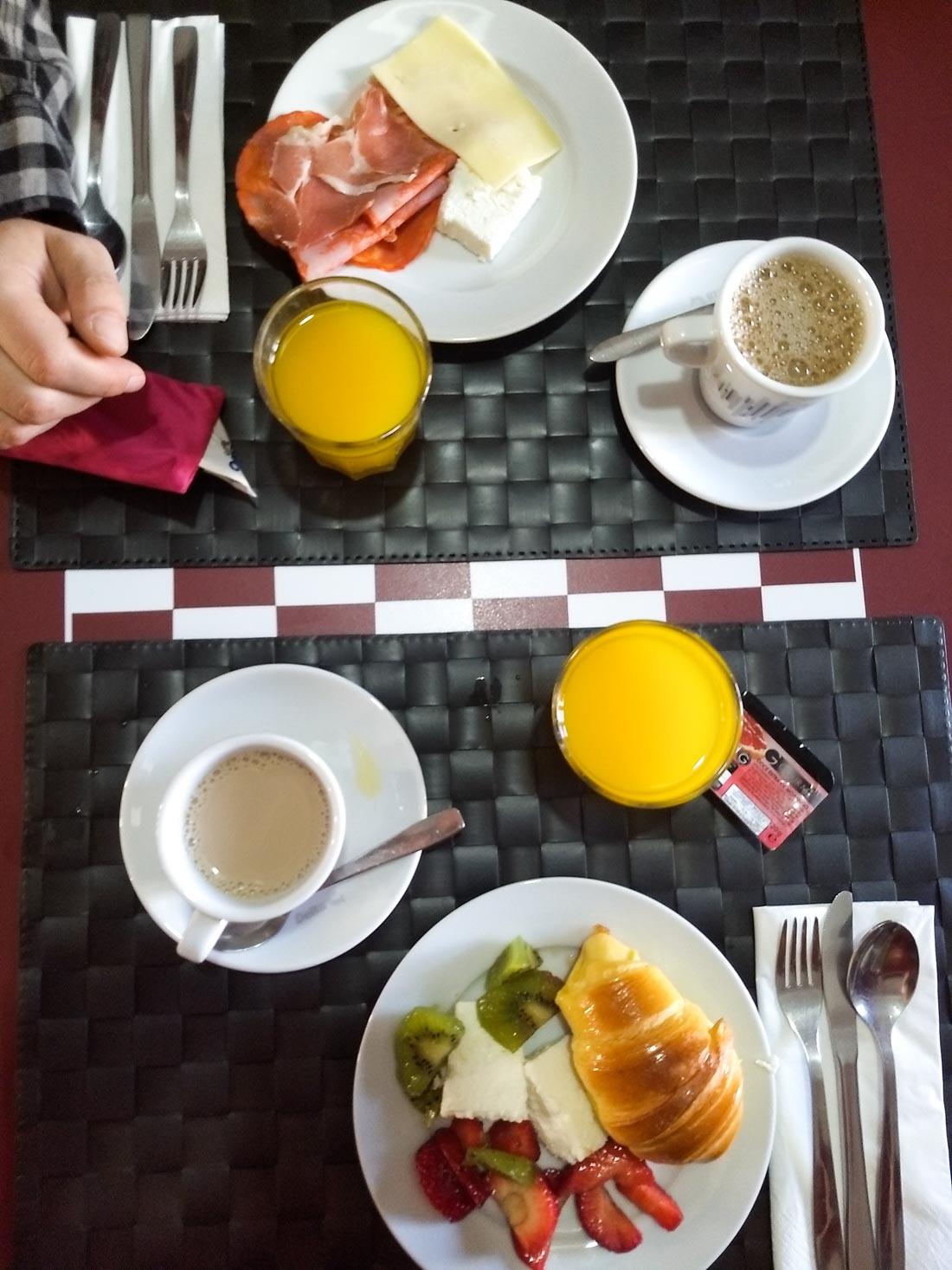 Desayuno en Aveiro