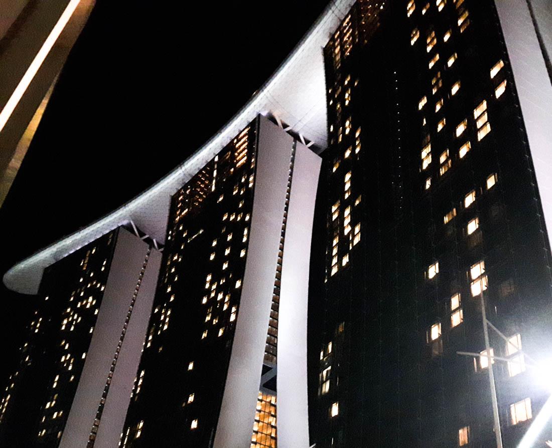 Marina Bay Sands en la noche
