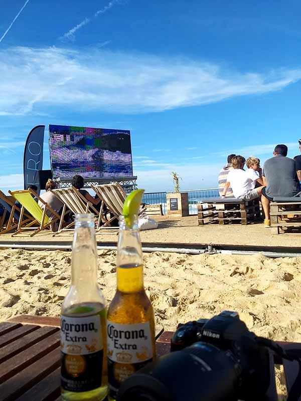 Bar en campeonato mundo surf Hossegor