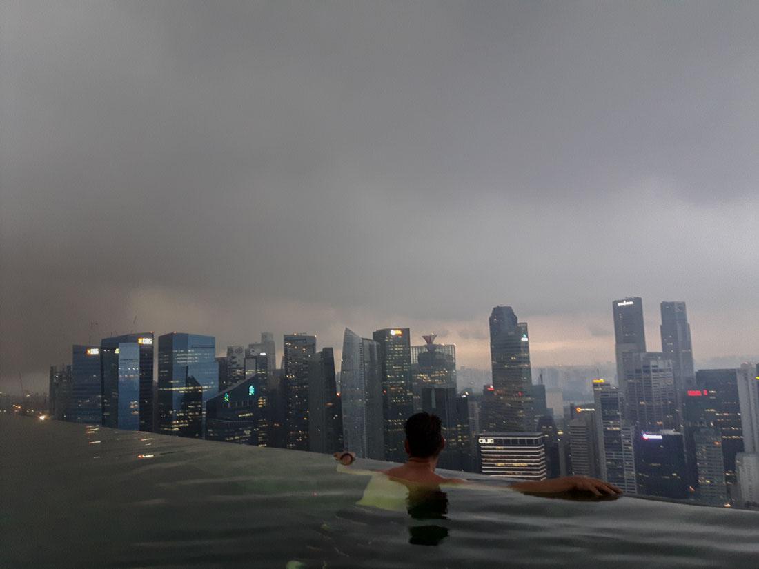 Tormenta en Marina Bay Sands
