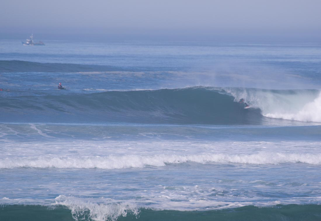 Tubo en campeonato mundo surf Hossegor