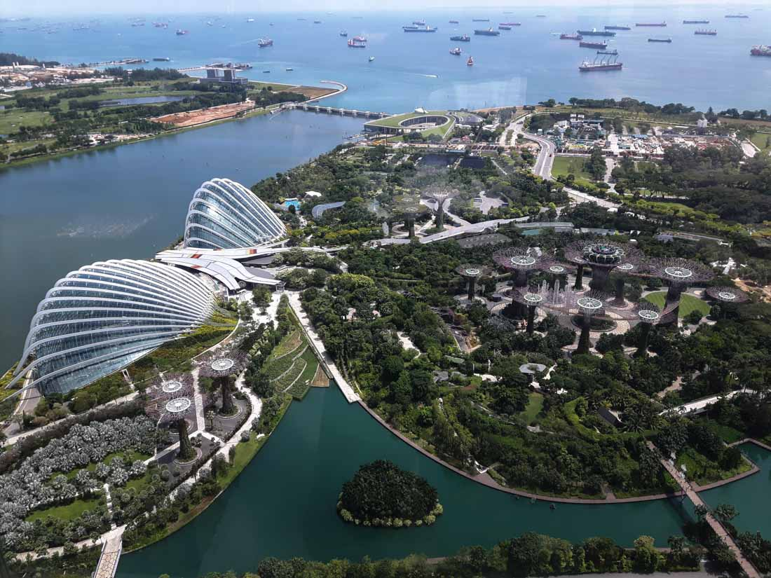 Vistas al Gardens by the Bay