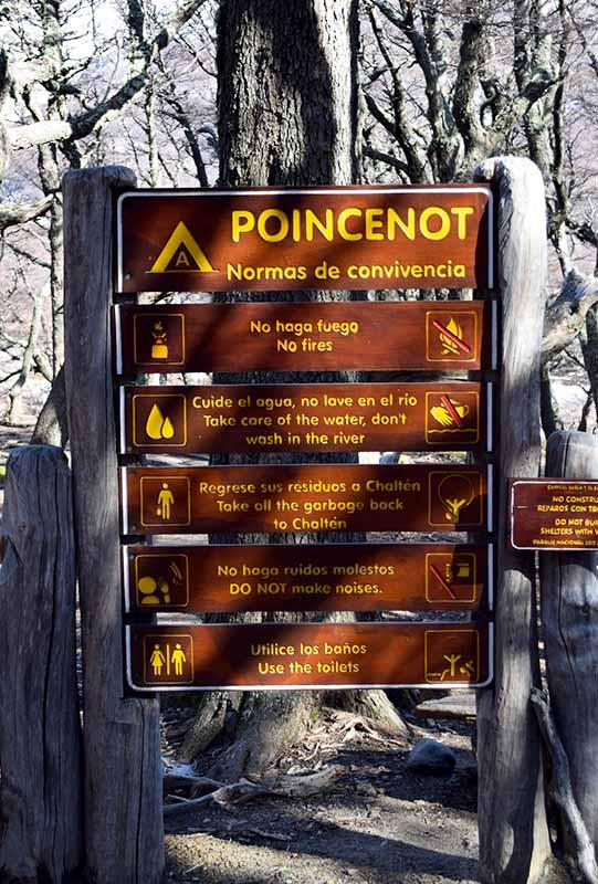 Normas de convivencia en el campamento Poincenot