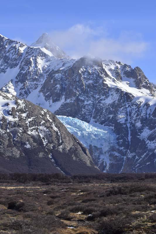 Panorámica a un glaciar en el Sendero al Fitz Roy