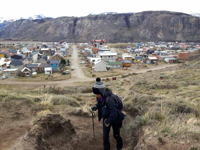 Comienzo del sendero al Cerro Torre en Patagonia