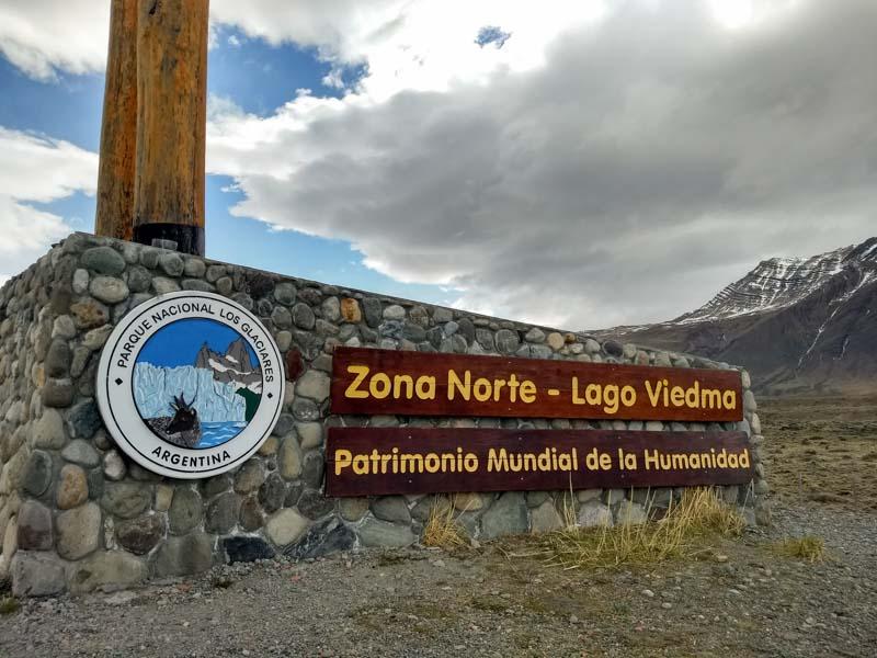 Entrada norte Parque Nacional de Los Glaciares