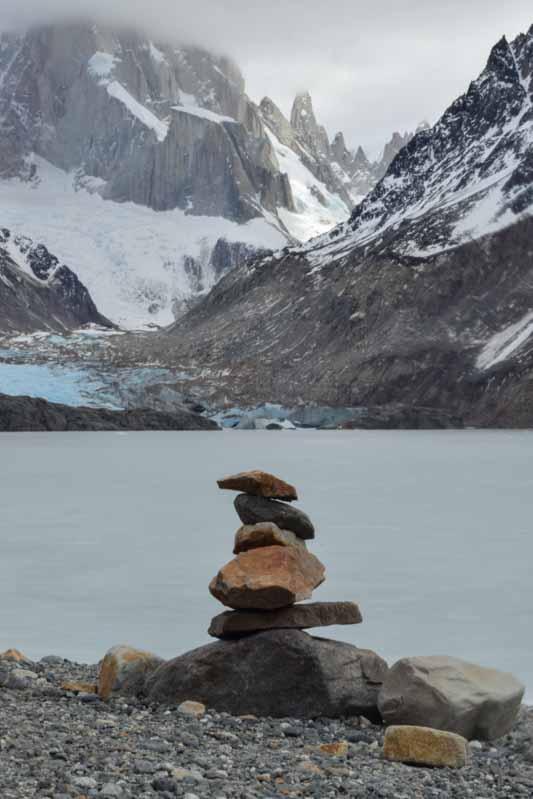 Laguna y glaciar Torre Patagonia
