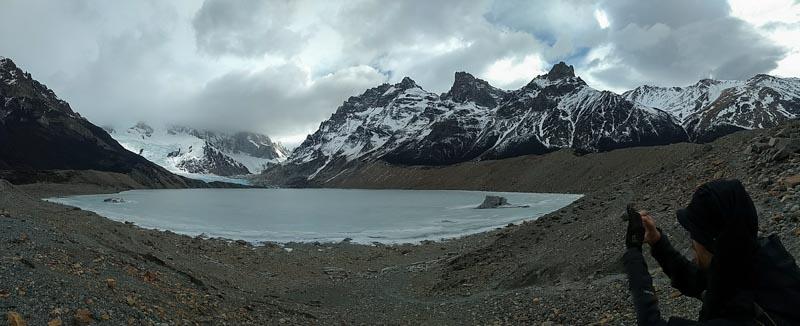 Panorámica de la Laguna Torre en Patagonia
