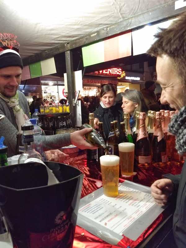 Puesto bebidas nochevieja Viena