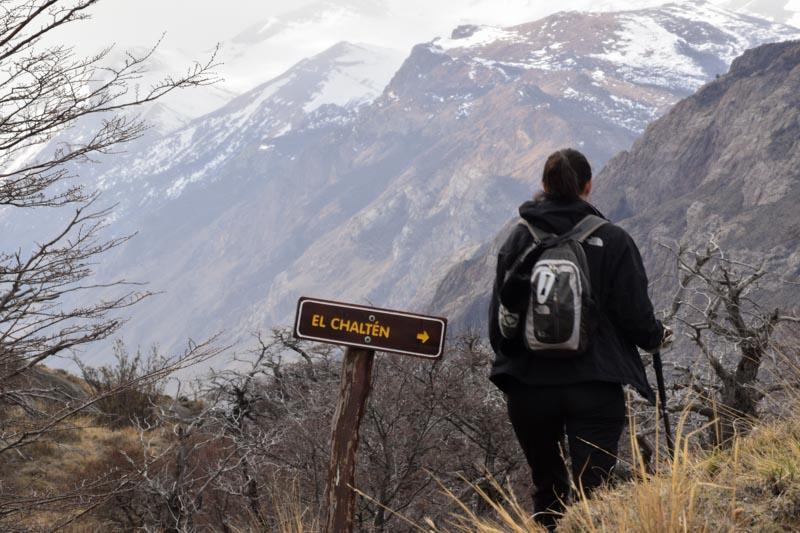 Sendero al Cerro Torre en El Chaltén