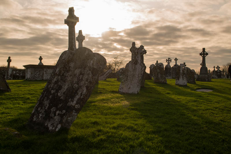 Atardecer en Clonmacnoise