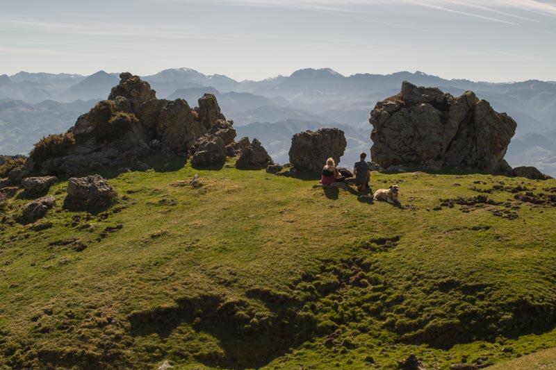 Panorámica en la ruta al Picu Pienzu