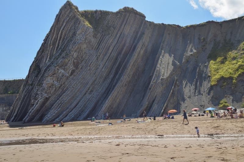 Acantilados en playa de Itzurun Zumaia
