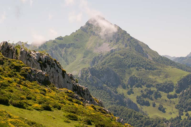 Panoramica en el parque natural de Redes en Asturias