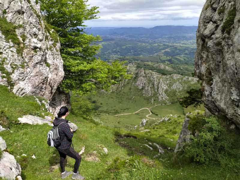 Parte de arriba en subida a Peñamayor en Nava Asturias
