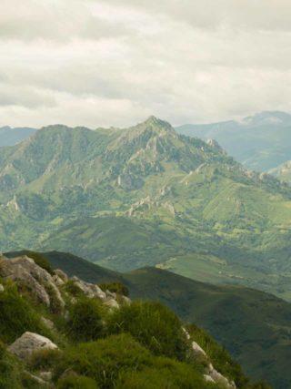 Panorámica desde Peñamayor en Nava Asturias