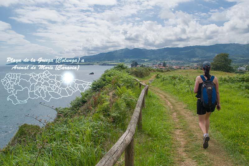 Senda La Griega Arenal Moris donde está mapa de Asturias