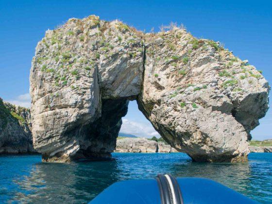 Tomason en los acantilados del Infierno en Asturias