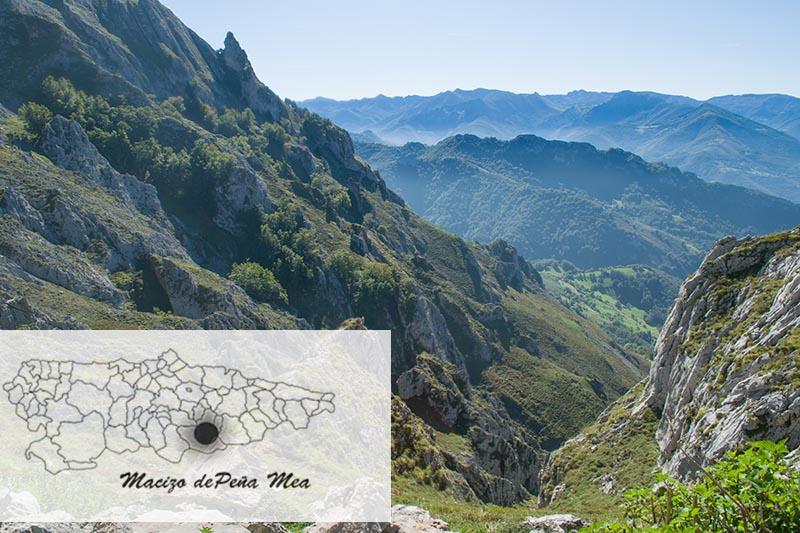 Donde está el Ojo de Buey en Peña Mea Asturias