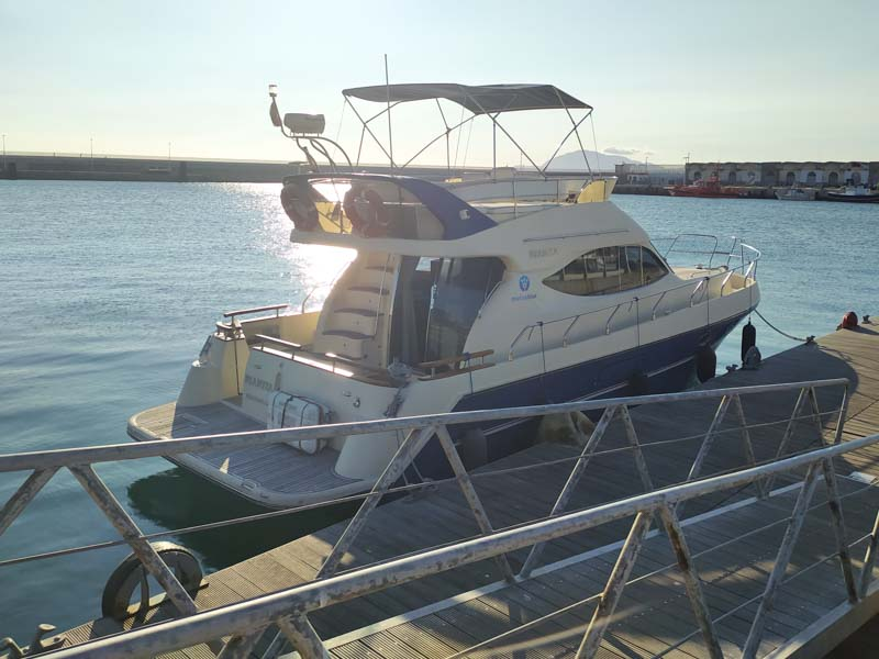 Yate de Marina Blue avistamiento cetáceos en Cádiz Estrecho de Gibraltar
