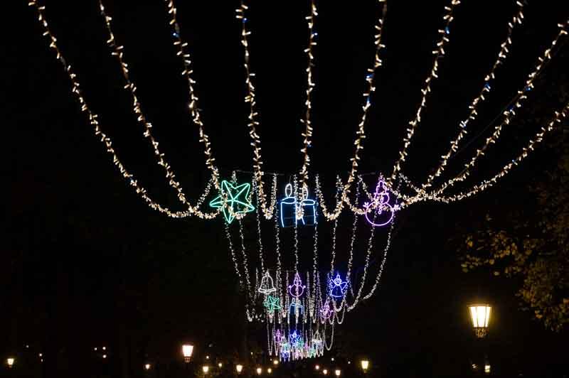 Parque de San Francisco en Navidad