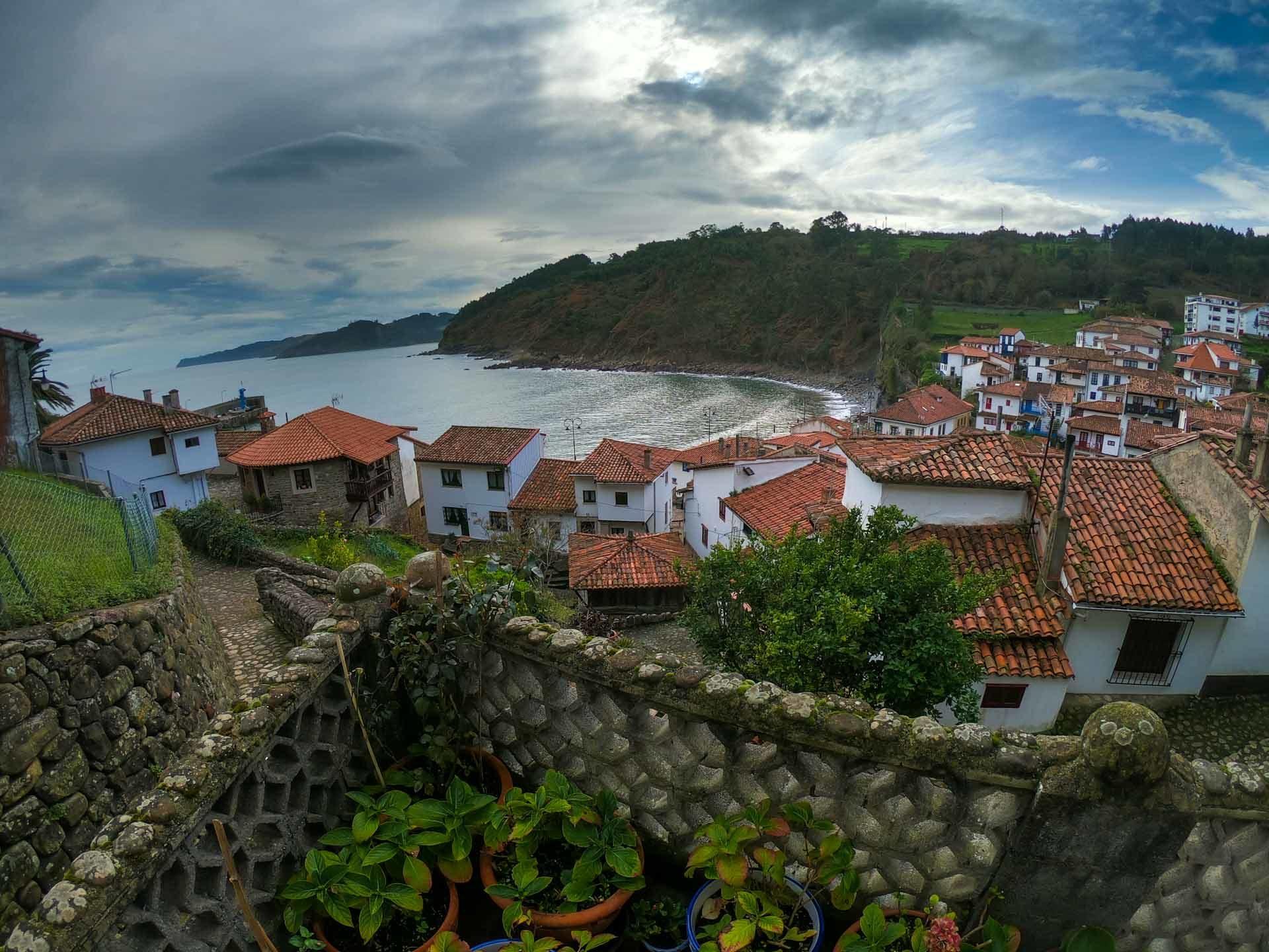 Panoramica de Tazones en Villaviciosa